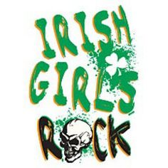 Irish Girls Rock With Skull