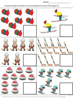 Winter Olympics: These Winter Sports themed no prep worksheets. You are in the right place about Winter Sports Preschool science Here we offer you the mo Creative Curriculum Preschool, Kindergarten Special Education, Kindergarten Activities, Preschool Science, Literacy Worksheets, Math Literacy, Literacy Centers, Sports Theme Classroom, Sport Cuts