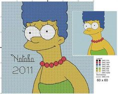 ... patterns, Simpsons cartoon and Cross stitch patterns on Pinterest