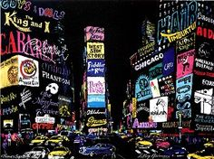"LeRoy Neiman ""The Lights of Broadway"