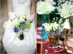 Feathers and flowers!  by Sassafras Flowers  Photos by Ashely Hoskins