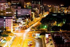 Nightview Windhoek, Namibia. For visit, hire a car from: www.namibiacarrentals.com