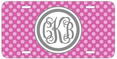 Personalized Monogrammed Polka Dot Light Purple Grey Vine License Plate Auto Tag Top Craft Case http://www.amazon.com/dp/B00OMQDEW4/ref=cm_sw_r_pi_dp_0Yotub15PC05D