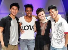Melanie Moore - Season 8 (2011) America's Favorite Dancer  -- with finalists Marko Germar, Sasha Mallory (runner -up) and Tadd Gadduang. Moore, from Georgia, trained and competed for twelve years in Marietta at Rhythm Dance Center