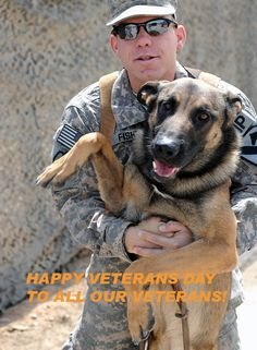 Honoring all our human and K9 soldiers - thank you for your service!