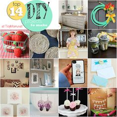 Top 14 DIY Ideas at