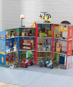 Another great find on #zulily! KidKraft Everyday Heroes Police & Fire Set by KidKraft #zulilyfinds