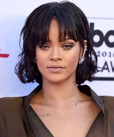 10 Celebrity Styles that'll Make You Want Bangs This Fall - Rihanna from InStyle.com
