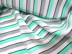 Crepe de chine - Remanant Warehouse. I'd want to see the scale of the stripes first - I am imagining a simple dress, boat neckline, pleated skirt (stripes horizontal.