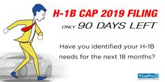 90 Day H1B Cap Red Alert: Employers who miss filing #H1B petitions in 2018 will not have a chance to file new H1Bs till April 2018, and will not be able to bring in new employees under the H-1B program until October 1, 2019. #H1BCap filings. #h1bcap2019 #h1bvisa #h1b