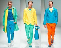 Cores Fortes: Moda masculina primavera verão 2012.