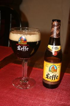 Score Leffe Bruin Personally I don't drink often dark beers, this one is a classic. In winter times I make some exceptions. My father always had this in the house. It is also a favourite to cook with Flemish stew or rabbit. Dark Beer, Belgian Beer, Beverages, Drinks, Winter Time, Beer Bottle, Stew, Belgium, Rabbit