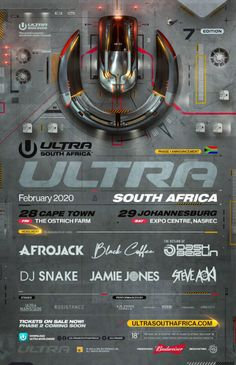 Africa's largest electronic music festival, Ultra South Africa 2020 just announced its Phase 1 lineup, and it's already looking pretty good. Teaser, Sunnery James, Jamie Jones, App Support, Win Tickets, Festivals Around The World, Steve Aoki, South African Artists, Local Hero