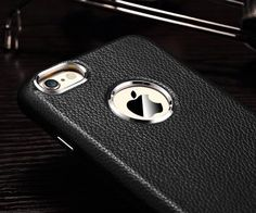 Add some luxury to your every day look with the Leather iPhone Case by Linlins.