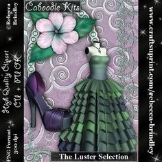 Caboodle Kits The Luster Selection on Craftsuprint designed by Rebecca Brindley - Sometimes you just want it all, and now you can with my Caboodle kits. Made with Designers in mind I have tried to include one of everything you would need to design great looking sheets.