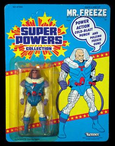 """super powers mr freeze   1986 Kenner Super Powers Collection """"Mr. Freeze"""", MOC"""