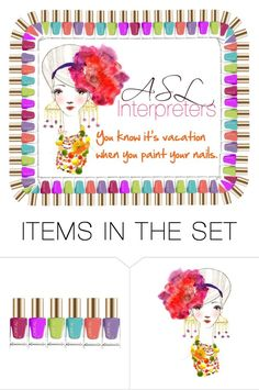 """ASL Terp Vaca"" by audreyterp ❤ liked on Polyvore featuring art, ASL, Interpreters, Interpreter and deaf"