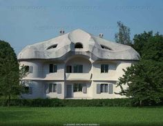 """Haus Duldeck"" one of the living quarters for students of Rudolf Steiner's Anthroposophy at the Goetheanum, in Dornach, Switzerland, 1915/16."