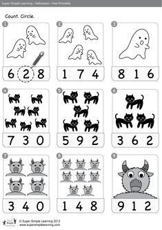 Halloween Worksheets - use counting worksheets with pennies Halloween Worksheets, Halloween Math, Theme Halloween, Halloween Activities, Holiday Activities, Preschool Activities, Halloween Wreaths, Homeschool Worksheets, Kindergarten Worksheets