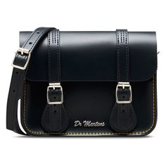 """Dr. Martens Leather 7"""" Satchel (1 595 UAH) ❤ liked on Polyvore featuring bags, handbags, navy, leather handbags, navy blue handbags, leather purses, navy blue purse and handbag satchel"""