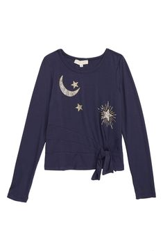 580277f89e Truly Me Moon   Stars Tie Front Top (Toddler Girls   Little Girls)