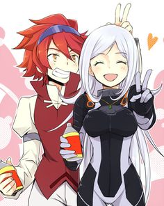 Reiji and Aila - Gundam Build Fighters Gundam Wing, Gundam Art, Gundam Iron Blooded Orphans, Overwatch Wallpapers, Gundam Build Fighters, Custom Gundam, Mecha Anime, Character Wallpaper, Anime Love Couple