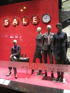 "HUGO BOSS,Passeig de Gracia, Barcelona,Spain, ""IT'S TIME FOR THE BOSS SALE "", pinned by Ton van der Veer"