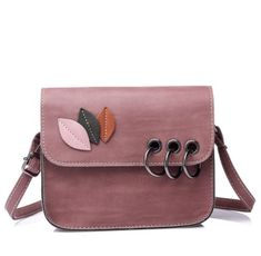 Leather Abstract Cactuses In Flower Pot Backpack Daypack Bag Women