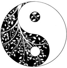yin yang design. might actually go with this one