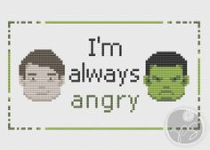 Bruce Banner Hulk quote pattern on Craftsy.com