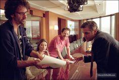 shooting Intolerable Cruelty (2003) with Catherine Zeta Jones and George Clooney