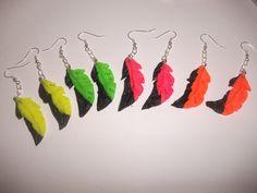 Boucles d'oreille plumes fimo : Boucles d'oreille par lesfantaisiesdekarine