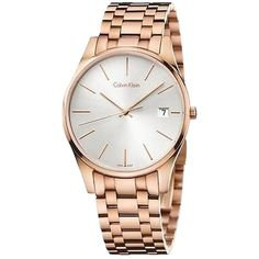 Pre-owned Calvin Klein Ck Time Rose Gold-tone Mens Watch K4n21646 (1 135 PLN) found on Polyvore featuring jewelry, watches, pre owned jewelry, preowned jewelry, calvin klein watches, calvin klein and calvin klein jewelry