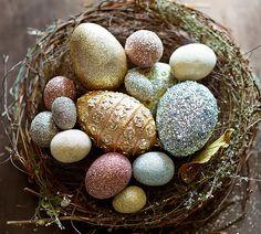 Sparkle Ornament Eggs | Pottery Barn