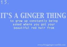 It's a Ginger Thing #15 / Redhead/Ginger Quotes (SERIOUSLY! EXACT WORDS!)