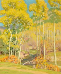 """Twining Canyon,"" E. Martin Hennings, ca. 1930, oil on canvas, 30 x 25"", private collection."