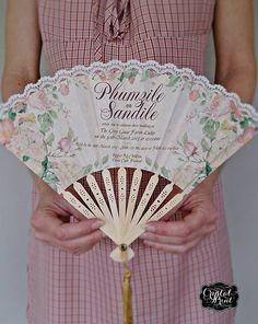 Botanical fan invitatiom