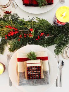 A Winter Holiday Tablescape | Poppytalk