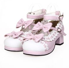 Princess sweet lolita shoes Summer and spring princess sweet soft sister shoes lace bow-tie muffin shoes fashion women Bow Shoes, Shoes Heels Wedges, Pink Heels, Cute Shoes, Black Heels, Women's Pumps, Sandals, Baby Doll Shoes, Kawaii Shoes