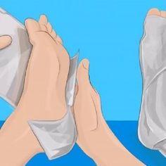 Das passiert, wenn du deine Füße für eine Stunde in Alufolie einwickelst
