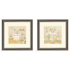 Master Bath Framed Print (Set of 2)  FRESHEN UP
