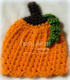 FREE Crochet Pumpkin Hat Pattern #crochet #pattern #free #tutorial #pumpkin #hat #beanie #halloween #fall #autumn #charity #preemie #newborn #premature #baby #infant #NICU