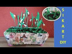 How to make a pot of snowdrops - DIY/Convert plastic box into a beautiful home decoration/Decoratiune pentru casa Living Room Decor, Bedroom Decor, Creative Decor, Feng Shui, Reuse, Beautiful Homes, Christmas Decorations, House Design, Make It Yourself
