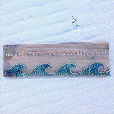 Wanderlust ocean string art made from reclaimed by GrainsOfWisdom