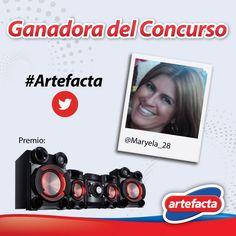¡Felicitaciones a Maryela! ¡Ganadora de nuestro concurso en Twitter! #Artefacta