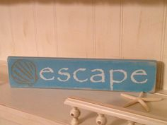 Escape sign on up cycled pallet wood