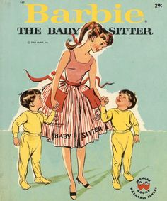 Barbie the Babysitter (1964)...did all babysitters wear cool aprons, or just Barbie?