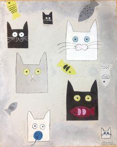 Opera per gattile biennio liceo artistico Rovereto di Rebecca Raffaelli e Sara Zandonai