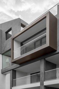 Stay At: Hotel Residenz Ballguthof - Lana, Italy - Design Finder Architecture Balcony Grill Design, Balcony Railing Design, Staircase Design, Steel Railing Design, Facade Design, Balcon Grill, Balustrade Balcon, Modern Balcony, Modern Exterior House Designs