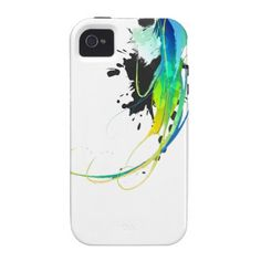 Abstract cool waters Paint Splatters iPhone 4 Cases